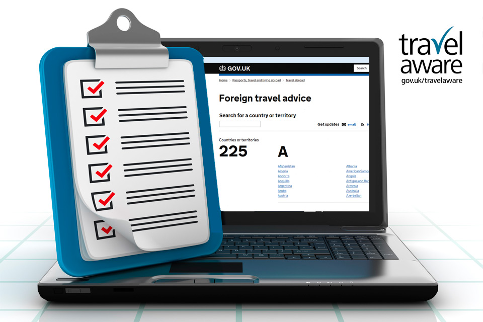 Foreign travel checklist