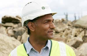 An Environment Agency Officer at a waste site.