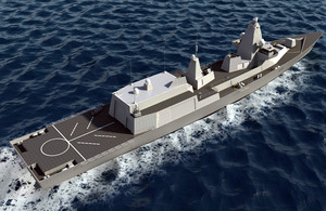 Computer-generated image of the proposed Type 26 Global Combat Ship