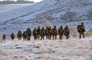 Soldiers from 2nd Battalion The Parachute Regiment taking part in Exercise Eagle's Nest [Picture: Crown Copyright/MOD 2013]