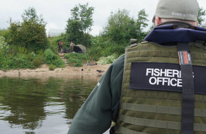 Environment Agency officer during an enforcement patrol