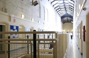 Inside of a prison.