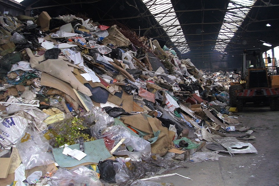 Image shows waste on site at Dodsworth Street