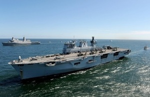 Fleet flagship of the Royal Navy HMS OCEAN