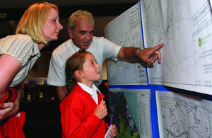 Stock image of a mother and daughter looking at a map during a drop-in consultation