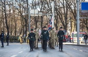 UK troops on NATO mission join Estonian national celebration