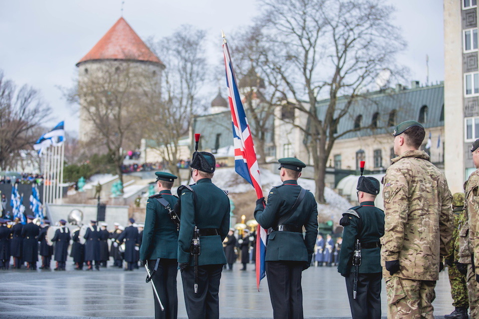 UK troops on NATO mission join Estonian national celebration