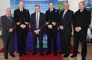 HMNB Clyde have signed an agreement with Argyll and Bute Council to work together in delivering infrastructure and opportunities for Royal Navy families and local people.
