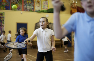 Image of pupils in a PE class