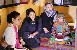 International Development Secretary Priti Patel meets teachers and schoolgirls in Afghanistan.