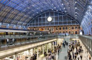 St Pancras Station.