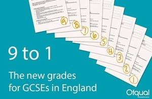 9 to 1: The new grade for GCSEs in England