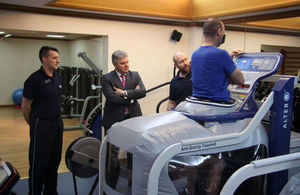 Policing and the Fire Service, Brandon Lewis, visits the Police Rehabilitation Centre