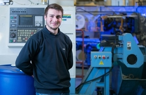 Ollie is a first year mechanical engineering apprentice at the Defence Science and Technology Laboratory (Dstl).
