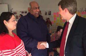 Minister Skidmore visit in Glasgow