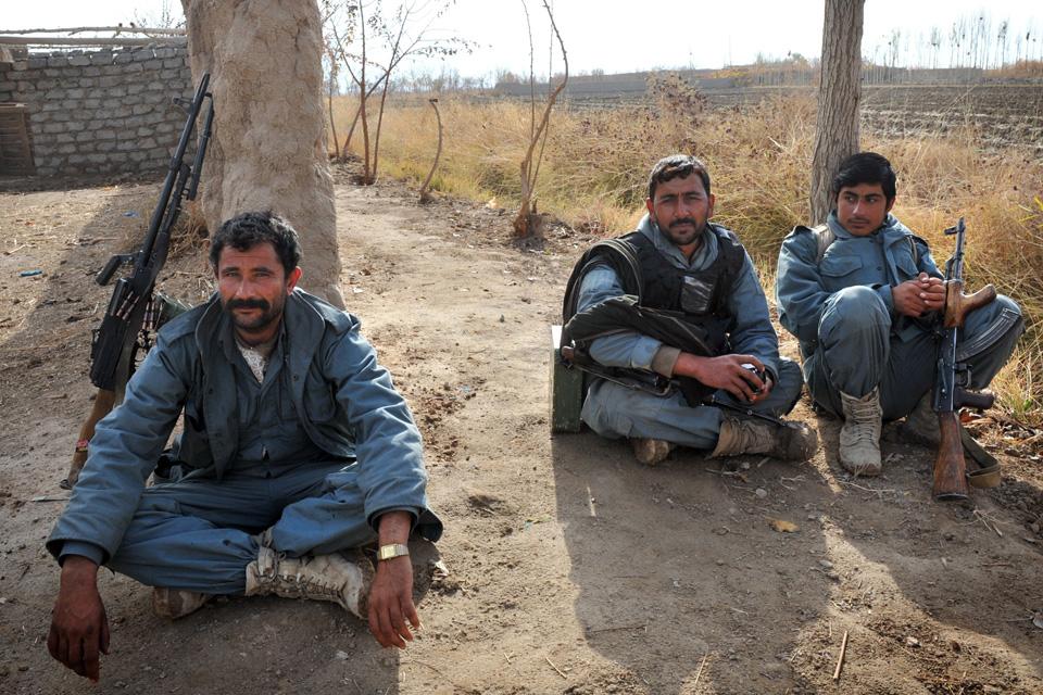 Members of the Afghan Uniform Police