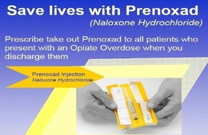 Photo of poster used to promote the distribution of naloxone by A&E staff