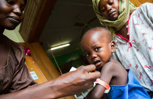 Child being treated for malnutrition