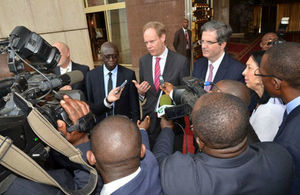 Matthew Rycroft at the Presidency of Cameroon