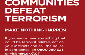 National counter terrorism poster
