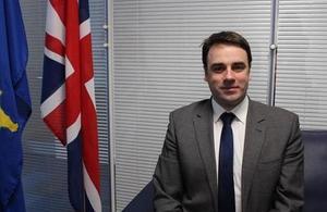 The British Ambassador Ruairi O'Connell