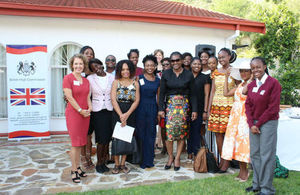 HE Jo Lomas, with the First Lady of Namibia and some of the mentees