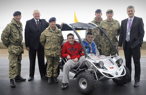 Soldiers from 102 Battalion Royal Electrical and Mechanical Engineers (Volunteers) are supporting the Tactical Engineering Development project in Redcar [Picture: Sergeant Dan Bardsley RLC, Crown Copyright/MOD 2013]