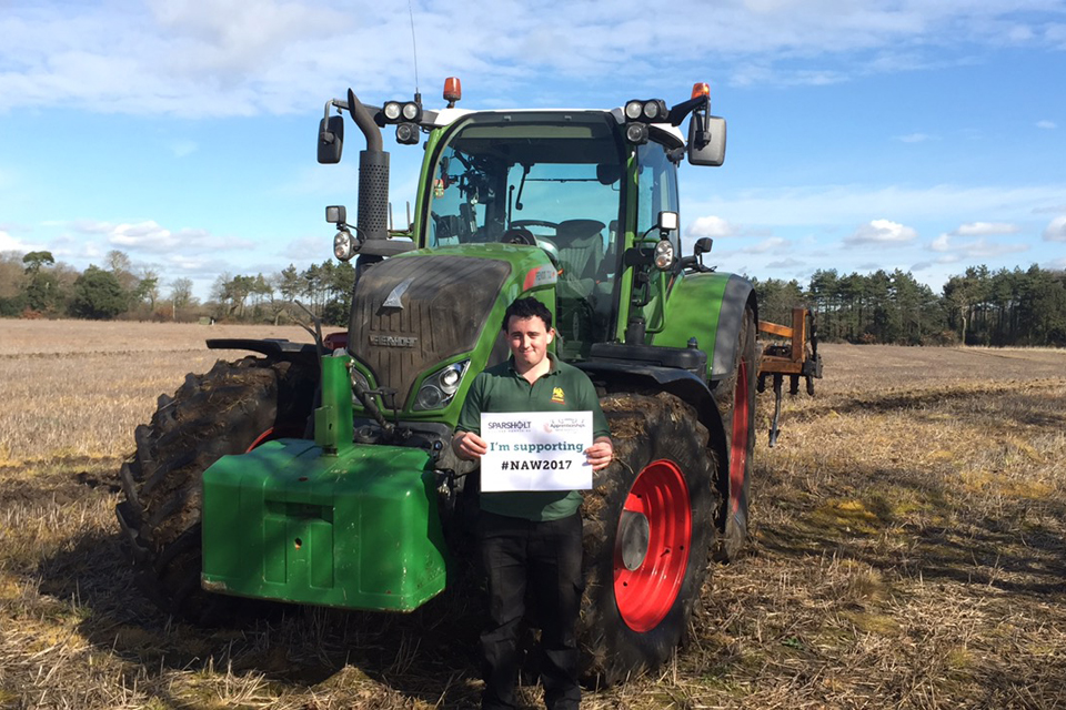 Agricultural apprentice, Peter took over the Sparsholt College Instagram to show off his ploughing skills for National Apprenticeship Week.