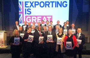 Mark Garnier and the 28 new Export Champions at the Midlands Engine.