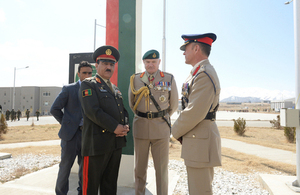 Vice Chief of the Defence Staff General Sir Gordon Messenger attended a graduation ceremony for new Afghan officers at the Afghan National Army Officer Academy.