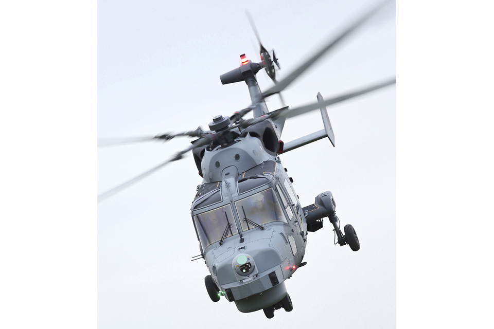 The Royal Navy Wildcat HMA Mark 2 attack helicopter