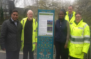 Representatives from Environment Agency, Birmingham City Council, local MP at the event