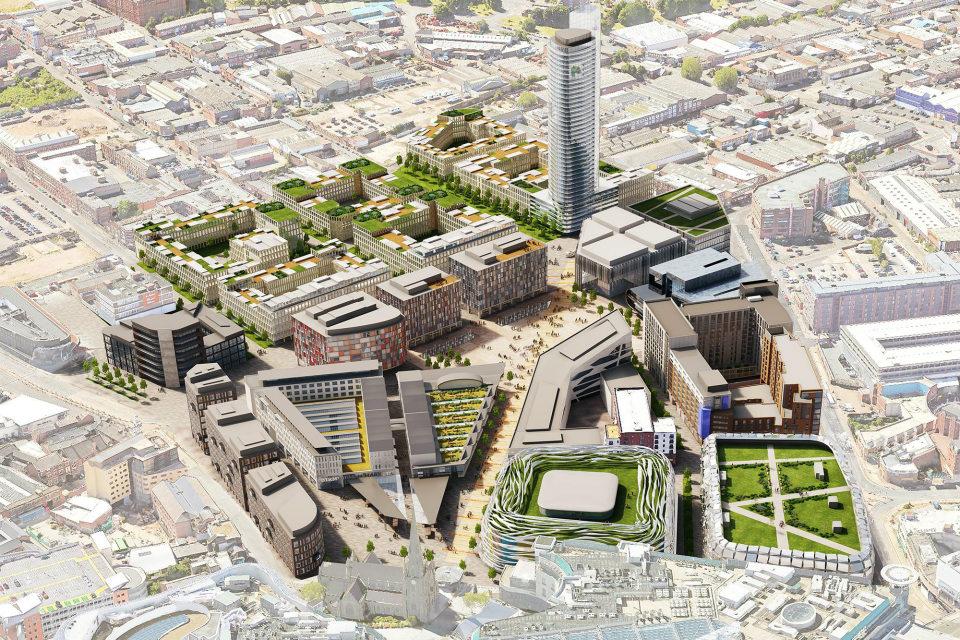 Impression of the new Birmingham Smithfield development by day © Birmingham City Council