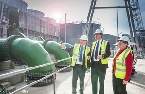 Energy Minister Jesse Norman on a tour of the facility
