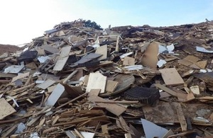 Waste wood at JSJ Wood Recycling