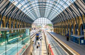A look inside London's Kings Cross railway station