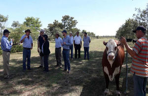 Agritech experts visit ranch in the Paraguayan Chaco