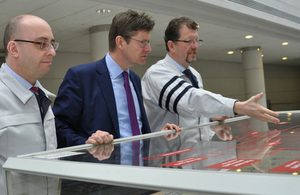 Business Secretary Greg Clark meets Toyota UK's MD and Deputy MD