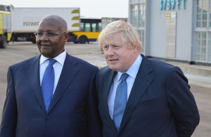 Rt Hon Boris Johnson with Hon Sam Kutesa