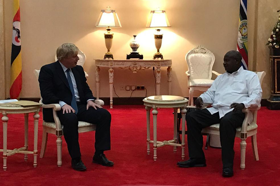 Rt Hon Boris Johnson with President Museveni