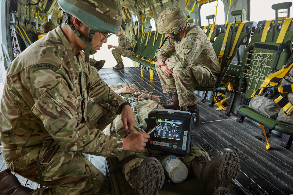 The Tempus Pro medical monitor in action. Crown Copyright.
