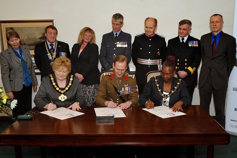 Armed Forces Community Covenant signing