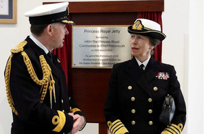 HRH Princess Anne unveils Princess Royal Jetty