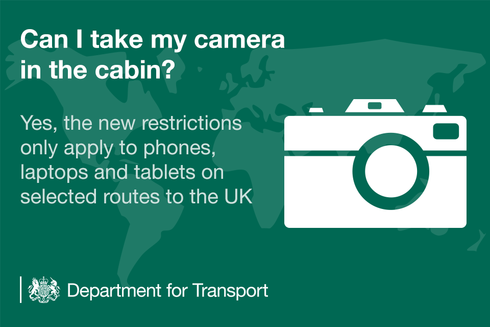 Can I take my camera in the cabin?