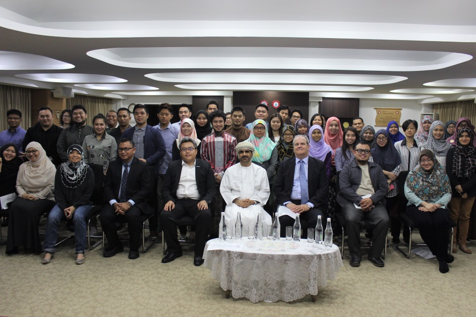 Participants of the Talk Series with special guest HE Mr Ahmed bin Hashel bin Rashed Al Maskari, Omani Ambassador; HE Mr David Campbell, British High Commissioner; Legislative Council members and the Brunei Chevening Youth Forum organising committee