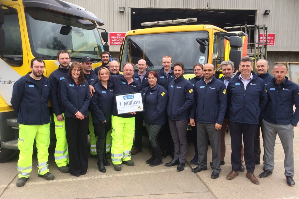 Image showing maintenance team celebrating their safe working practices