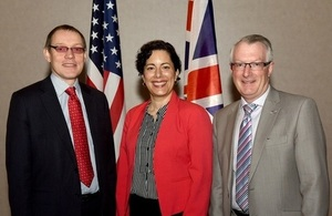 Adrian Simper (NDA), Ana Han (US Department of Energy, Environment Management), Keith Miller (UK National Nuclear Laboratory) commemorate the renewal of Statement of Intent at the 16th Standing Committee Meeting