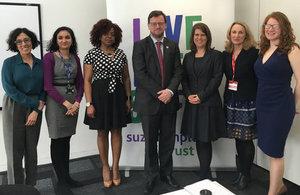 Rob Wilson MP visits Suzy Lamplugh Trust