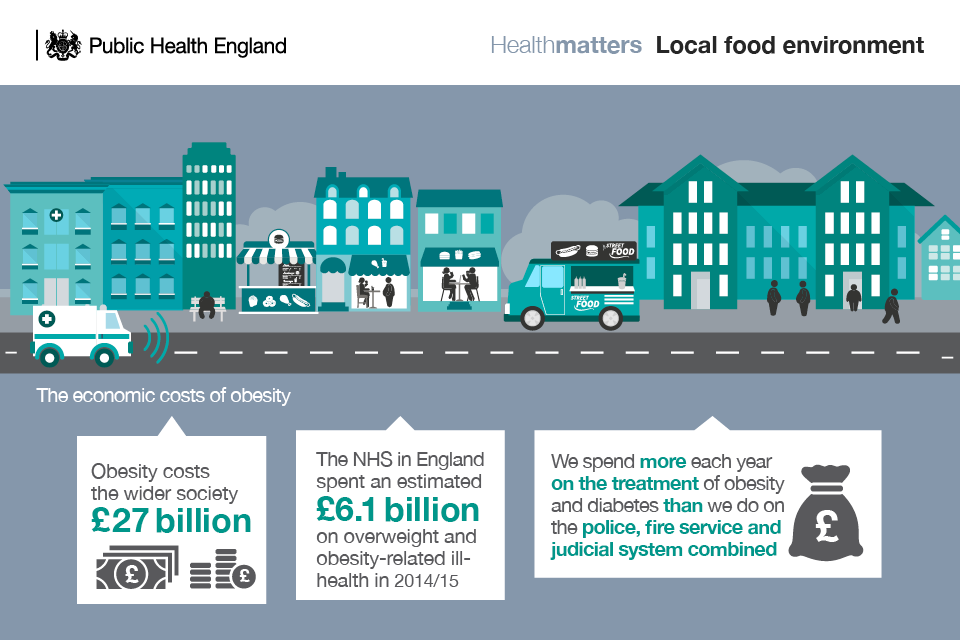 Infographic illustrating the economic costs of obesity