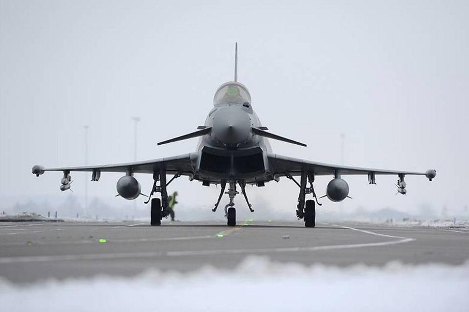 An 11 Squadron Typhoon